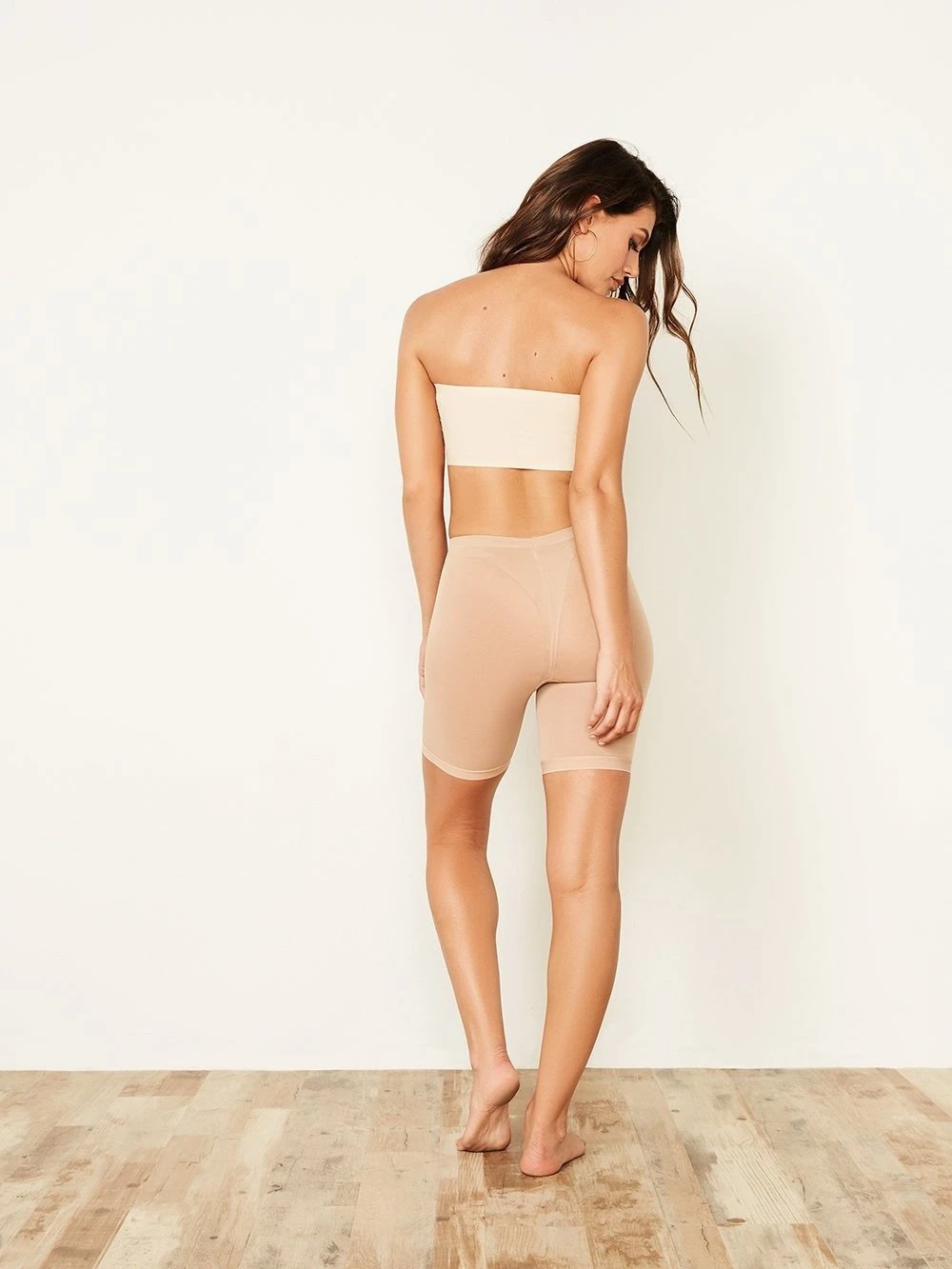 Mesh & Solid Shape Short - Youmita Lingerie