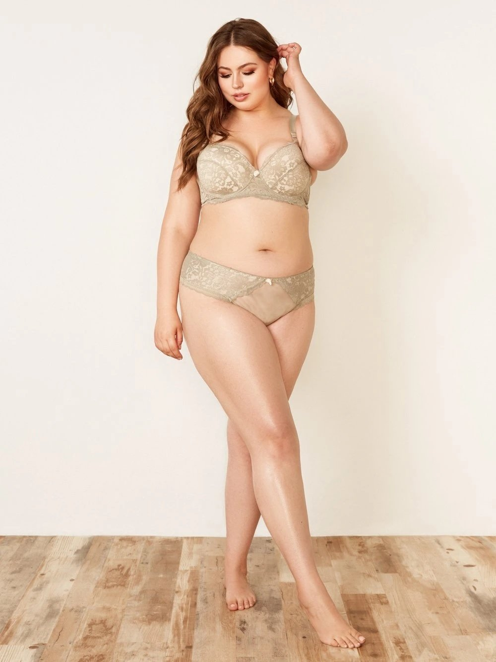 Curve Floral Lace and Mesh Hipster Panty - Youmita Lingerie