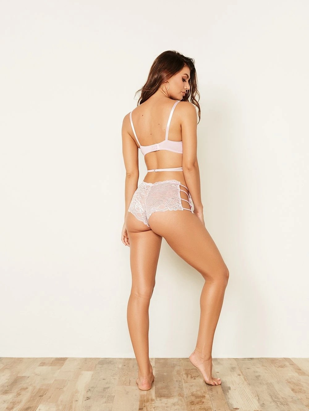 Metallic Lace Caged Boyshort Panty - Youmita Lingerie