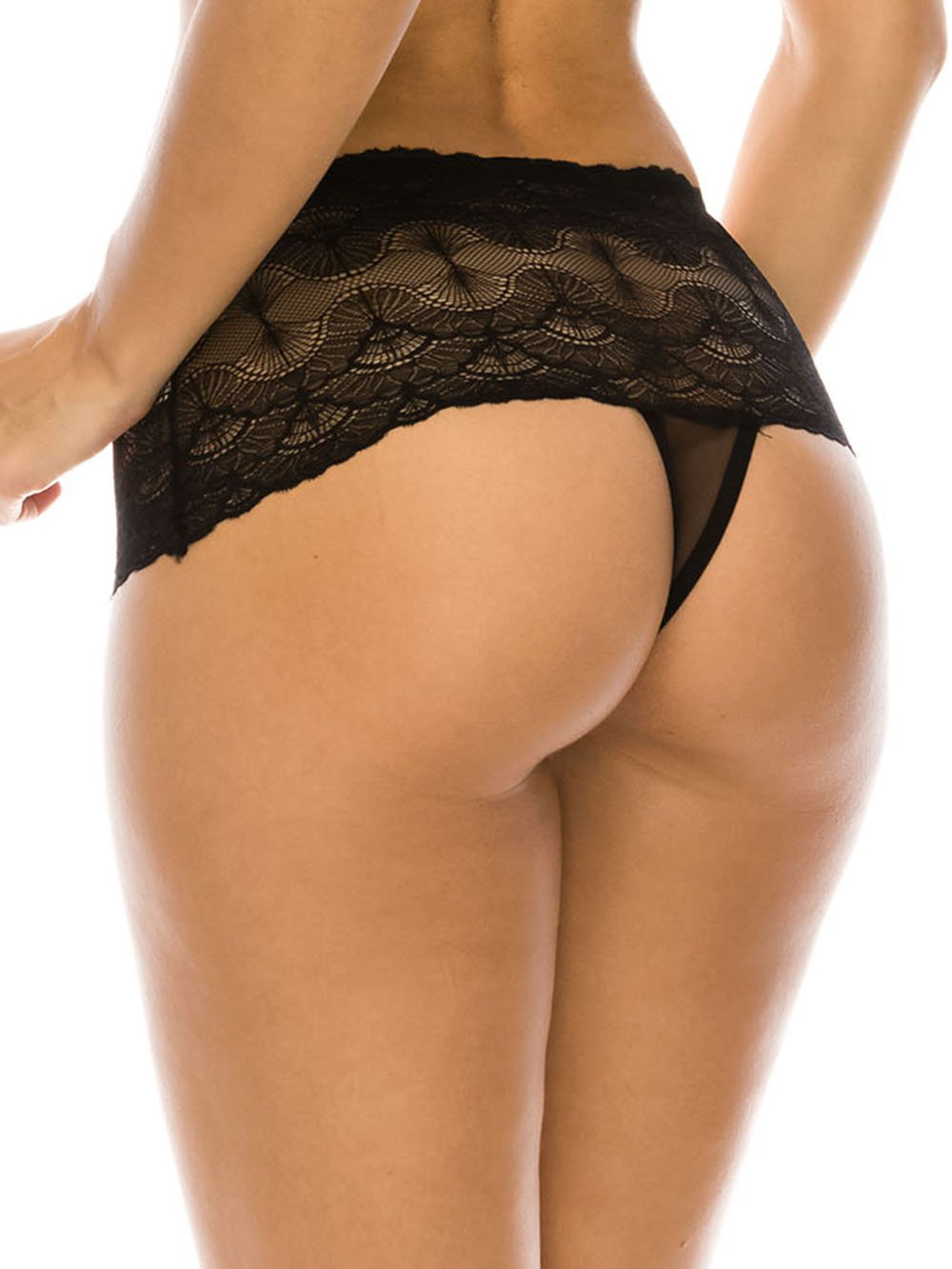 High Waist Lace Thong - Youmita Lingerie