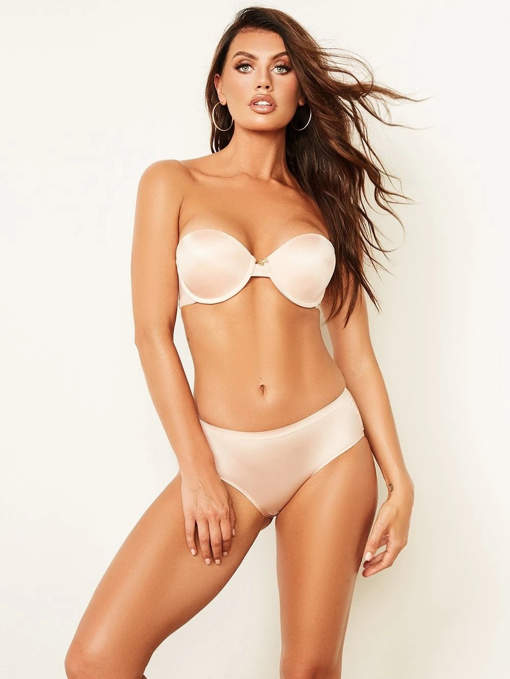 Basic Shiny Strapless Bra with Push-Up - Youmita Lingerie
