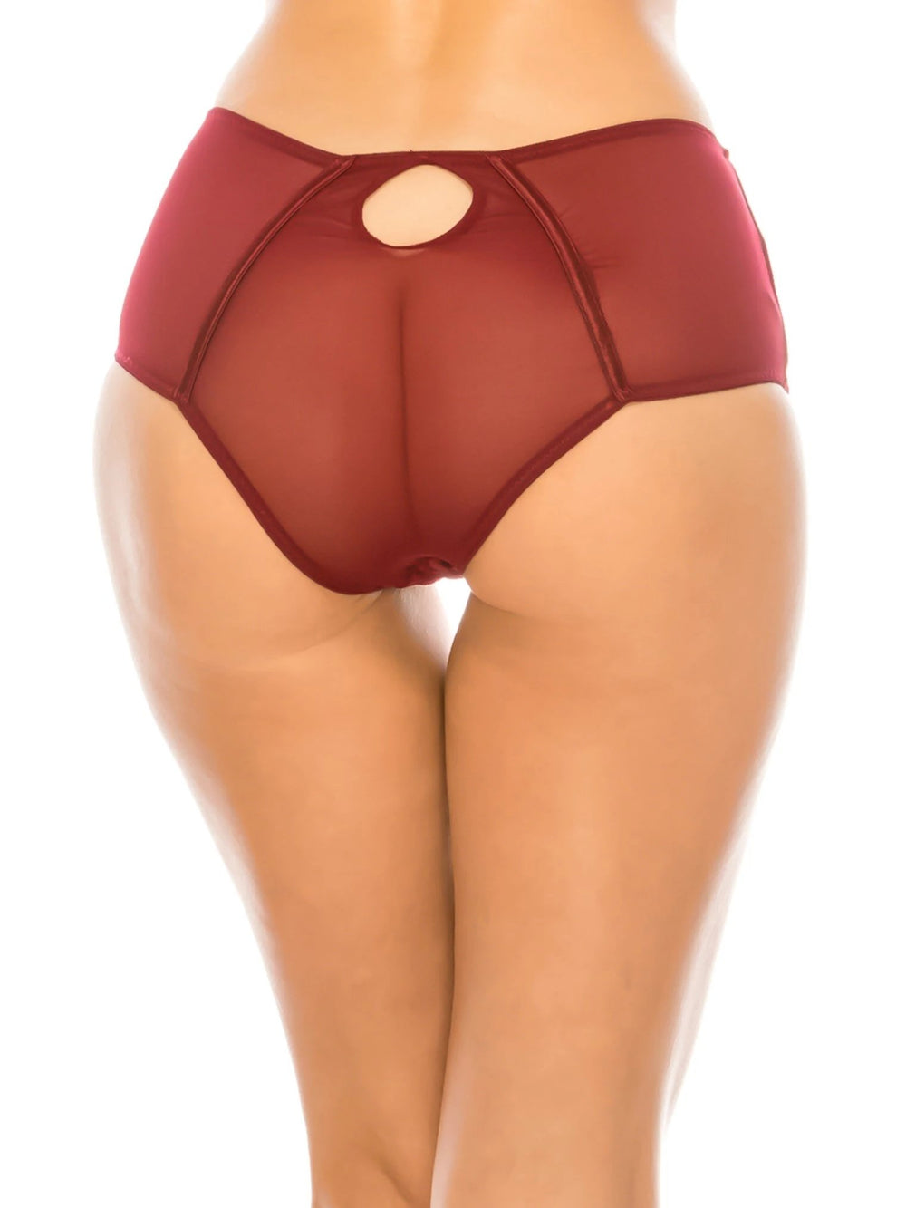 Velvet and Lace Brief Panty - Youmita Lingerie