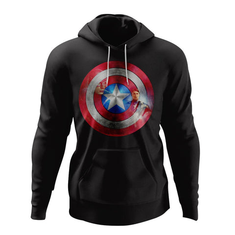 Captain America Shield Hoodie  - Style 1 - Custom Made