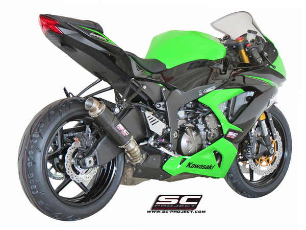 SC Project GP-M2 Slip-On Exhaust for Kawasaki ZX-6R