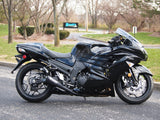 Brocks Dual Alien Head Slip-On System Black for Kawasaki ZX-14R