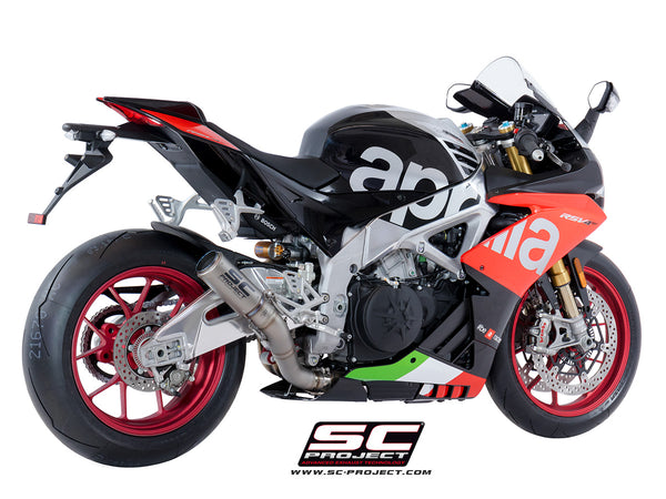 SC Project CR-T High Position Slip-On Exhaust for Aprilia RSV4