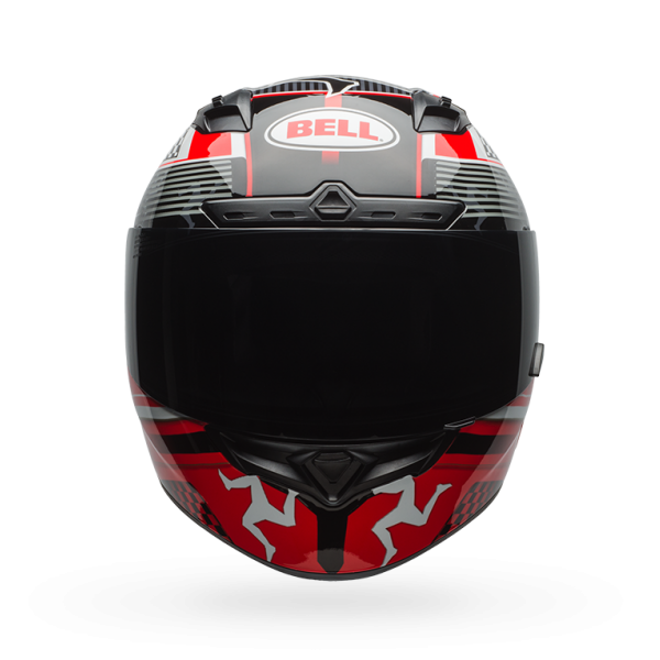 Bell Qualifier DLX Isle Of Man Black/Red Helmet