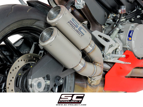 SC Project Twin CR-T Slip-On Exhaust for Ducati Panigale 959