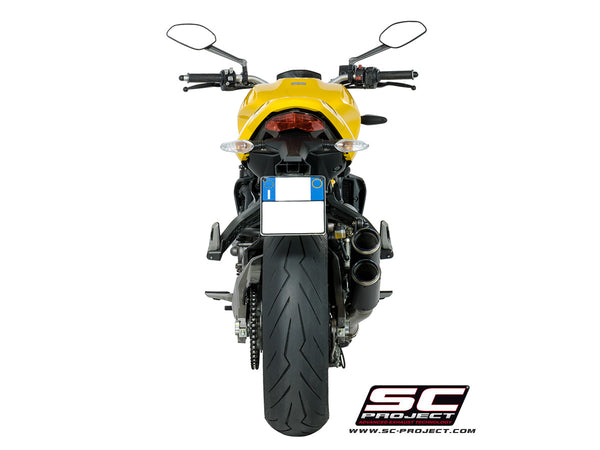 SC Project Twin CR-T Slip-On Exhaust for Ducati Monster 821