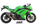 SC Project Oval Full Exhaust System 2-1 for Kawasaki Ninja 300