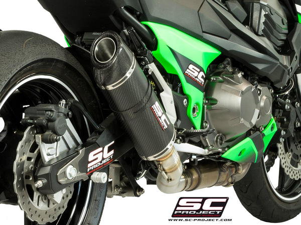 SC Project Oval Slip-On Exhaust for Kawasaki Z800