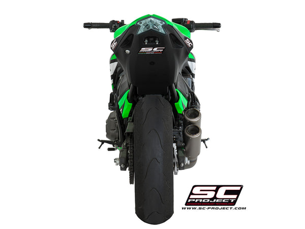 SC Project Twin CR-T Slip-On Exhaust for Kawasaki Z800