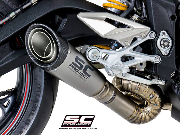 SC Project S1 Slip-On Exhaust for Triumph Street Triple RS