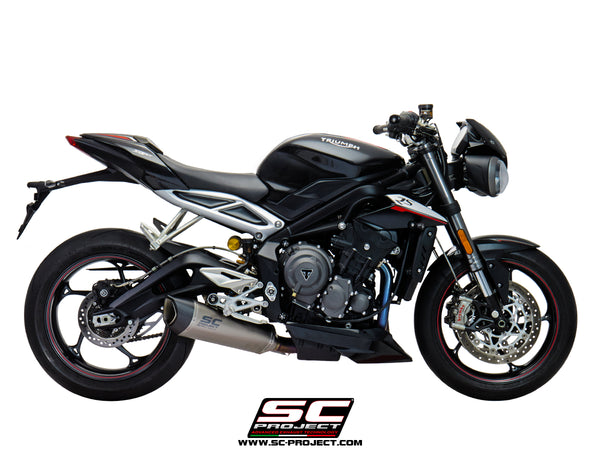 SC Project SC1-R Full Exhaust System 3-1 for Triumph Street Triple RS