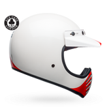 Bell Moto-3 Ace Cafe GP 66 Gloss White/Red Helmet