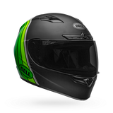 Bell Qualifier DLX Mips-Equipped Illusion Matte/Gloss Black/Green Helmet