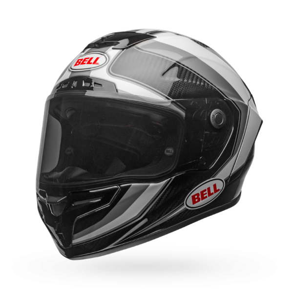 Bell Race Star Flex Gloss White/Titanium Sector Helmet