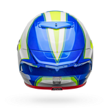 Bell Race Star Flex Gloss White/Hi-Viz Green/Blue Sector Helmet