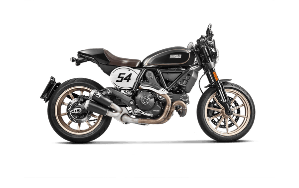 Akrapovic Titanium Slip-on Exhaust (with catalytic) for DUCATI SCRAMBLER CAFÉ RACER 2018