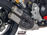 SC Project Twin CR-T Slip-On Exhaust for Ducati SuperSport