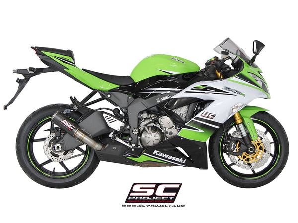 SC Project CR-T Slip-On Exhaust for Kawasaki ZX-6R