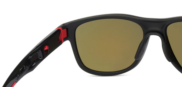 Oakley Matte Black Red Yellow Mirror 4 Unisex Sunglasses
