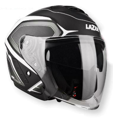 Lazer Tango Black White Grey Open Face Helmet