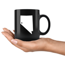 Load image into Gallery viewer, Nevada Coffee Mug - Black 11oz. - NV - MissionMint
