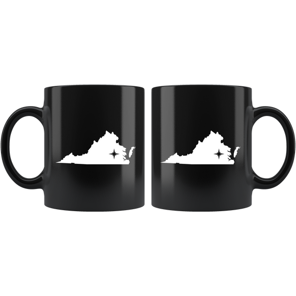 Virginia Coffee Mug - Black 11oz. - VA - MissionMint