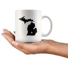 Load image into Gallery viewer, Michigan Coffee Mug - White 11oz - MI - MissionMint