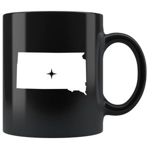 South Dakota Coffee Mug - Black 11oz. - SD - MissionMint