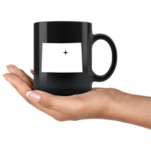 Load image into Gallery viewer, Colorado Coffee Mug - Black 11oz. - CO - MissionMint