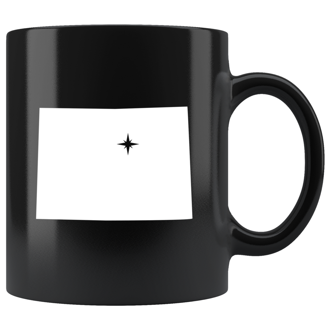Colorado Coffee Mug - Black 11oz. - CO - MissionMint