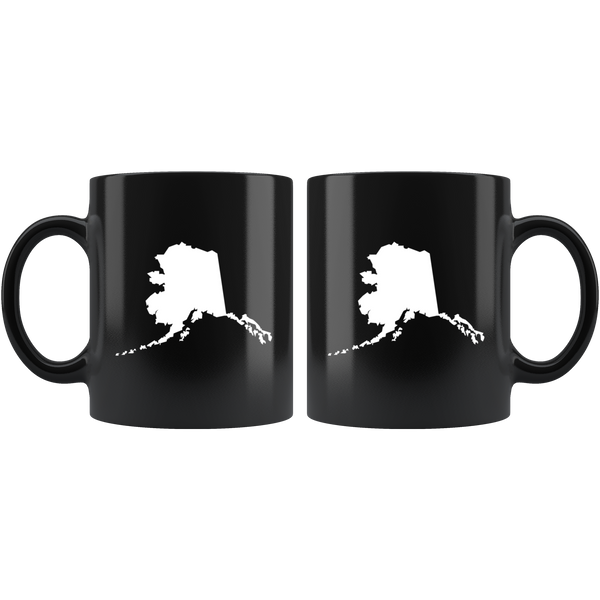 Alaska Coffee Mug - Black 11oz. - AK - MissionMint