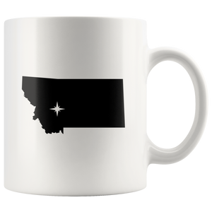 Montana Coffee Mug - White 11oz - MT - MissionMint