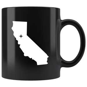 California Coffee Mug - Black 11oz. - CA - MissionMint