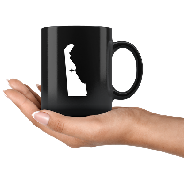Delaware Coffee Mug - Black 11oz. - DE - MissionMint