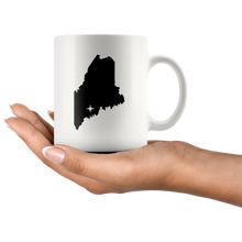 Load image into Gallery viewer, Maine Coffee Mug - White 11oz - ME - MissionMint