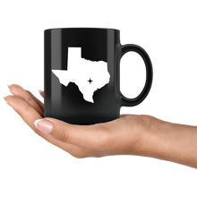 Load image into Gallery viewer, Texas Coffee Mug - Black 11oz. - TX - MissionMint
