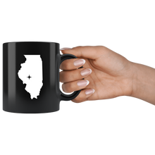 Load image into Gallery viewer, Illinois Coffee Mug - Black 11oz. - IL - MissionMint
