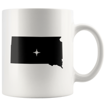 Load image into Gallery viewer, South Dakota Coffee Mug - White 11oz - SD - MissionMint