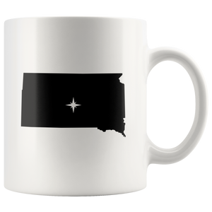 South Dakota Coffee Mug - White 11oz - SD - MissionMint