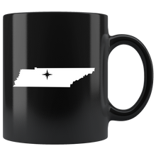 Load image into Gallery viewer, Tennessee Coffee Mug - Black 11oz. - TN - MissionMint