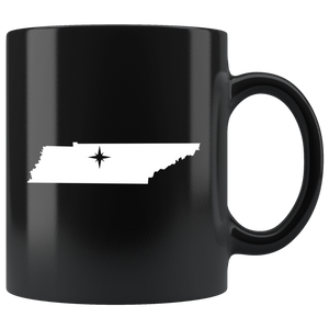 Tennessee Coffee Mug - Black 11oz. - TN - MissionMint