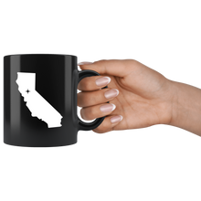Load image into Gallery viewer, California Coffee Mug - Black 11oz. - CA - MissionMint