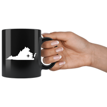 Load image into Gallery viewer, Virginia Coffee Mug - Black 11oz. - VA - MissionMint