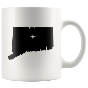 Connecticut Coffee Mug - White 11oz - CT - MissionMint