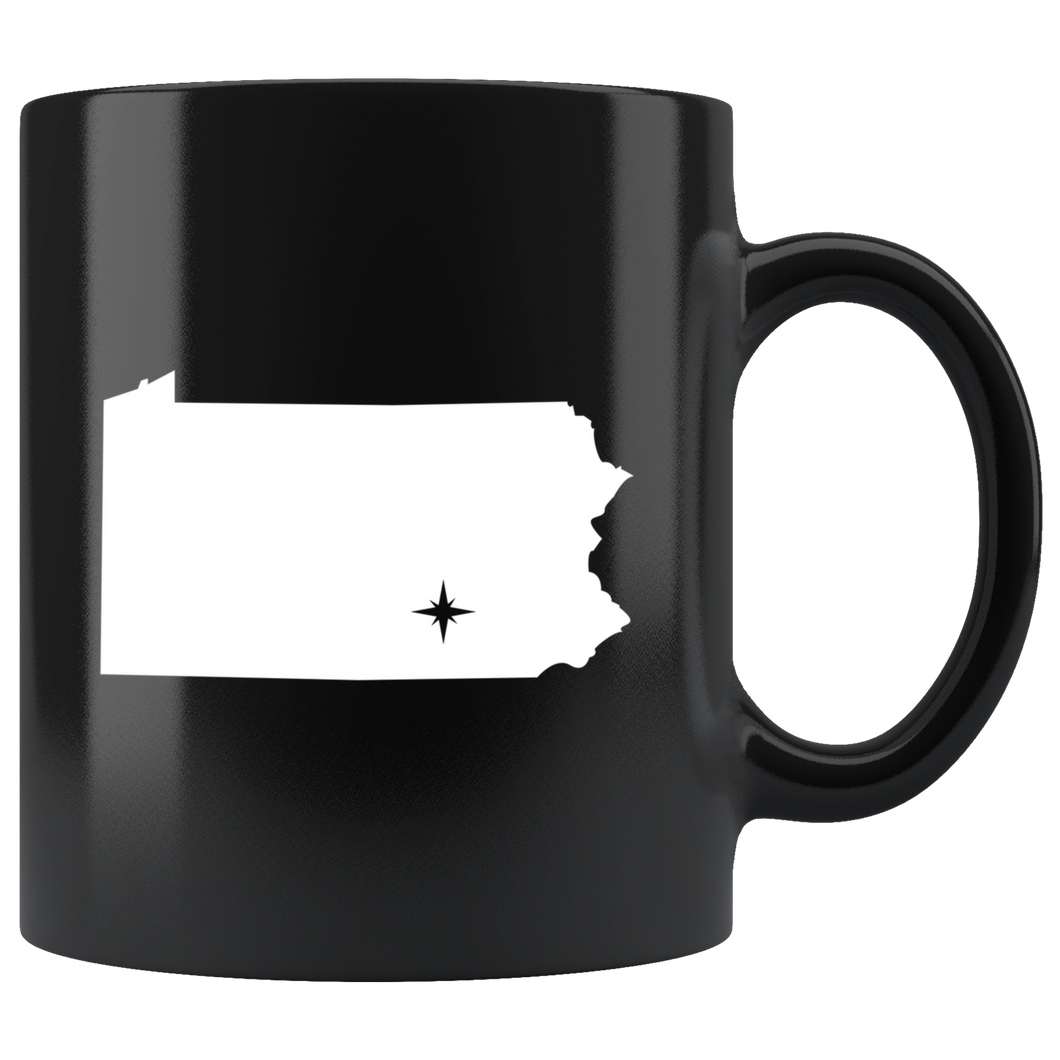Pennsylvania Coffee Mug - Black 11oz. - PA - MissionMint