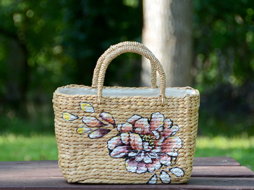 Flowers Straw Bag 2 - MissionMint