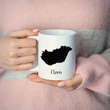 Load image into Gallery viewer, Hungary Mug Travel Map Hometown Moving Gift